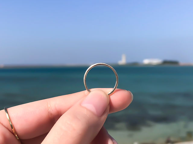 お店の目の前に広がる海を背景に写真撮影も☆_itosina-イトシナ-