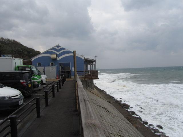 波しぶきが豪快。_道の駅 阿久根