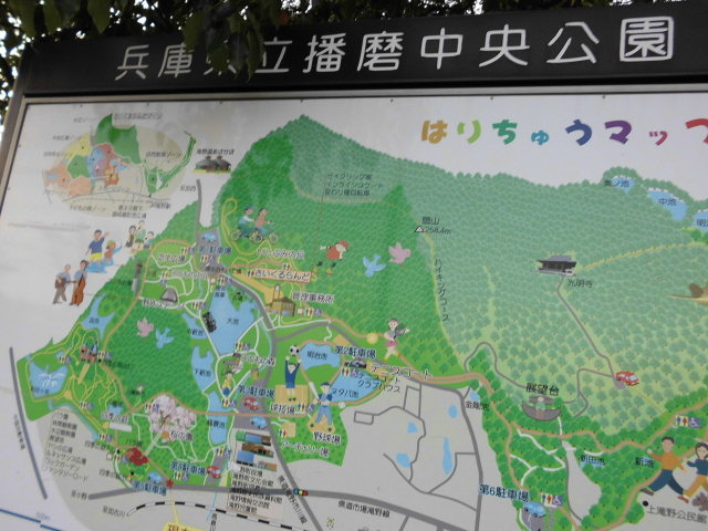 広いし 掲示板デカすぎてフレーム内にうまく収まらない 笑える_播磨中央公園ふじいでんこうさいくるらんど