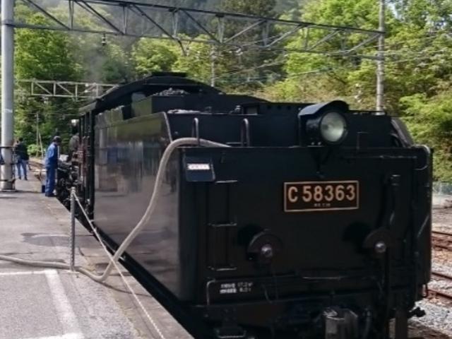 三峰口駅にて2_SLパレオエクスプレス