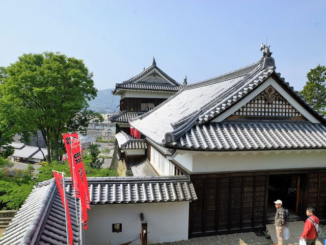 北櫓から南櫓の風景です  _上田城