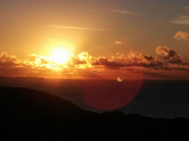 展望台からの夕日_バンナ公園