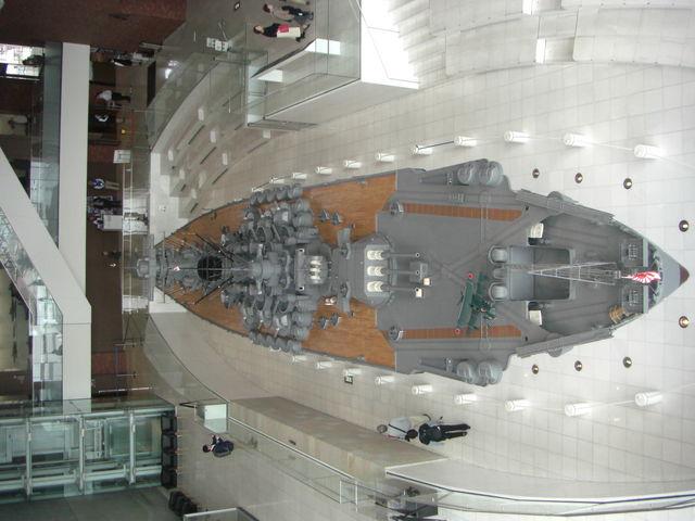 展示大和の全景(後部より)_呉市海事歴史科学館(大和ミュージアム)