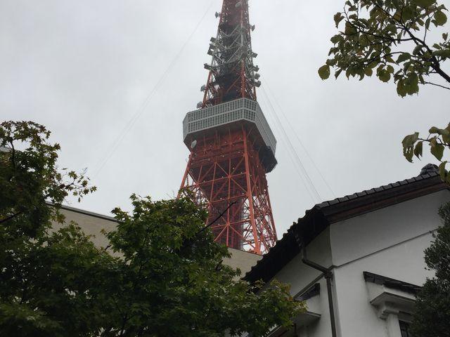 庭から見た東京タワー_東京 芝 とうふ屋うかい