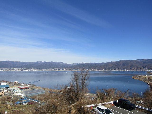 諏訪湖サービスエリアからの眺め_諏訪湖