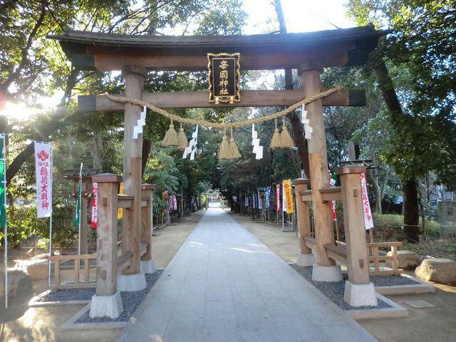 長い参道_辛国神社