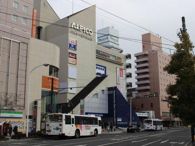松本駅前のバスターミナル_JR松本駅