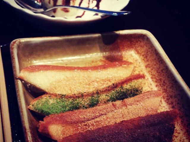 それまで肉の脂受けであった食パンが、見事な変化を遂げ〆のスイーツに!最後まで楽しませてくれます!_宮崎 ミヤチク