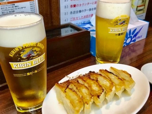 宇都宮来らっせ 見てこの美味そうな餃子とビール笑 最高でしょ?180421_来らっせ 本店