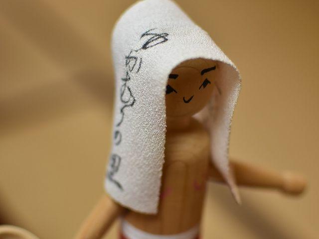 湯かむり人形と呼ばれる郷土玩具。今はこの地でもお一人しか作者がおらず受注生産とのことでした_湯かむり温泉