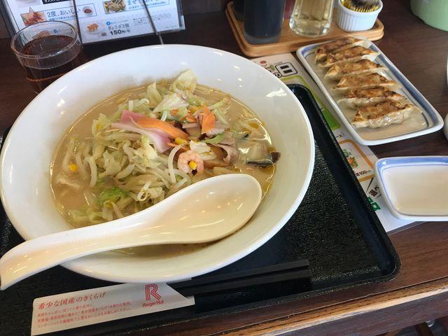 ちゃんぽん大盛りと餃子_リンガーハット 長崎出島店