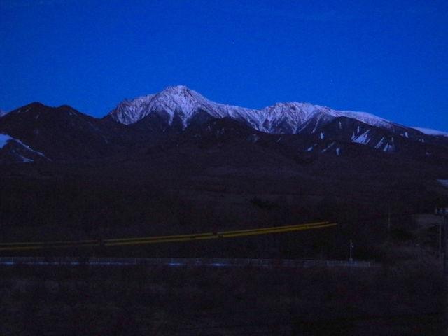 夜明け_八ヶ岳グレイスホテル