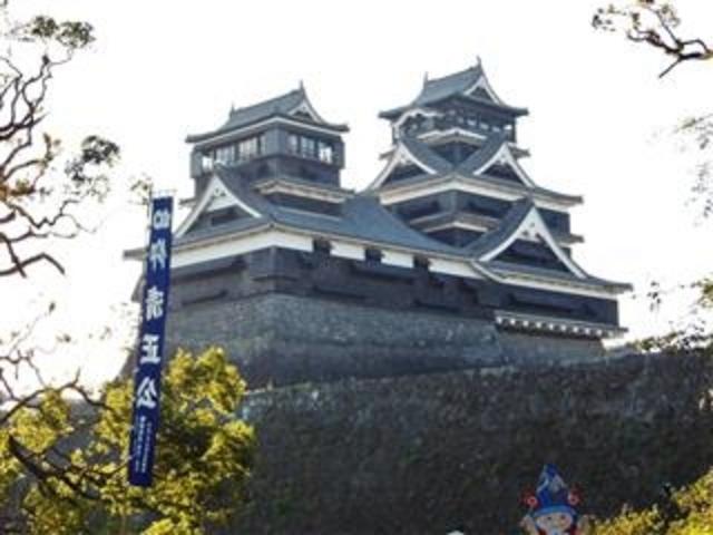 「加藤神社からの熊本城」_加藤神社