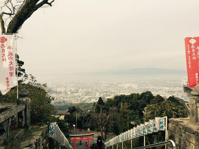 大社からの眺め_高良山