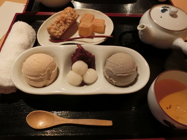アイス2種盛り+パウンドケーキのセット(わらび餅付き)_祇園 きなな