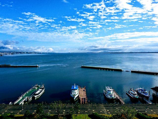 早朝の琵琶湖2_琵琶湖