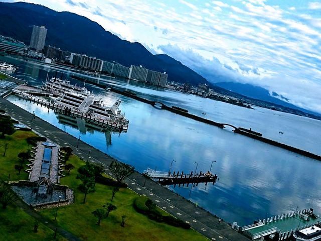 早朝の琵琶湖1_琵琶湖
