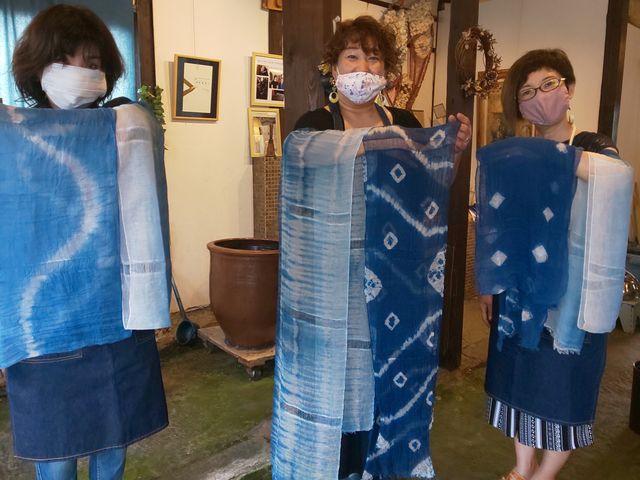 想像以上に素敵な作品が出来ました(^o^)_藍染め草木染体験工房 棉屋