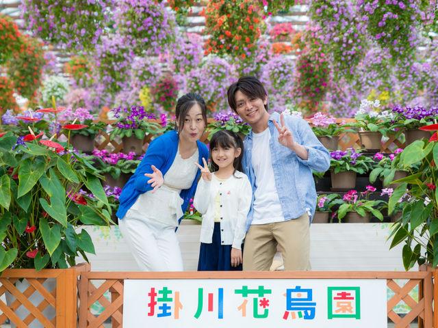 満開の花に包まれる大温室_掛川花鳥園