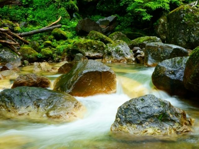 滝の下流_乗鞍高原