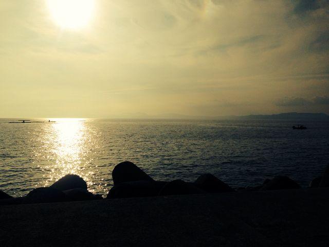 足湯からの写真_小浜温泉足湯 ほっとふっと105