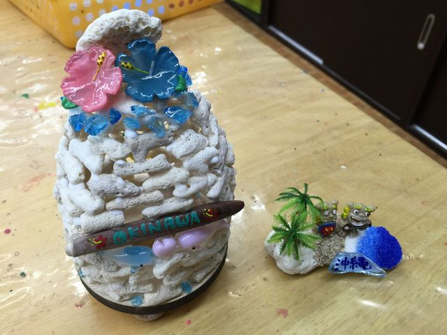 サンゴランプとサンゴオブジェ。_沖縄アート体験 美ら風
