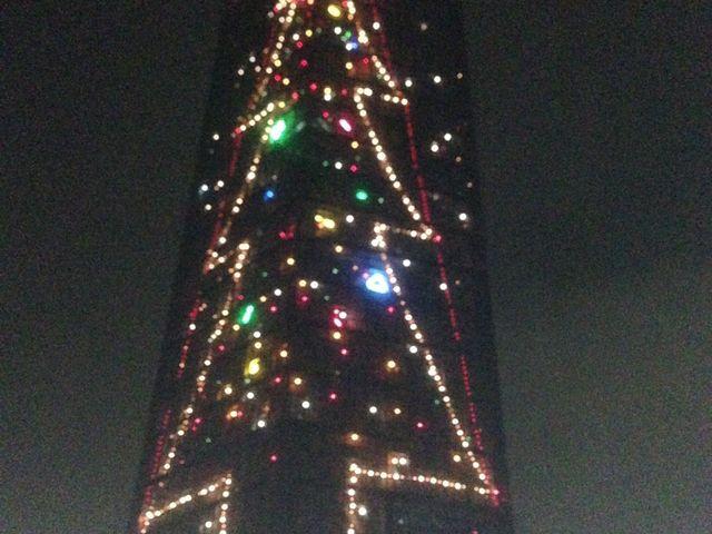 クリスマス限定のイルミネーションでした。_千葉ポートタワー
