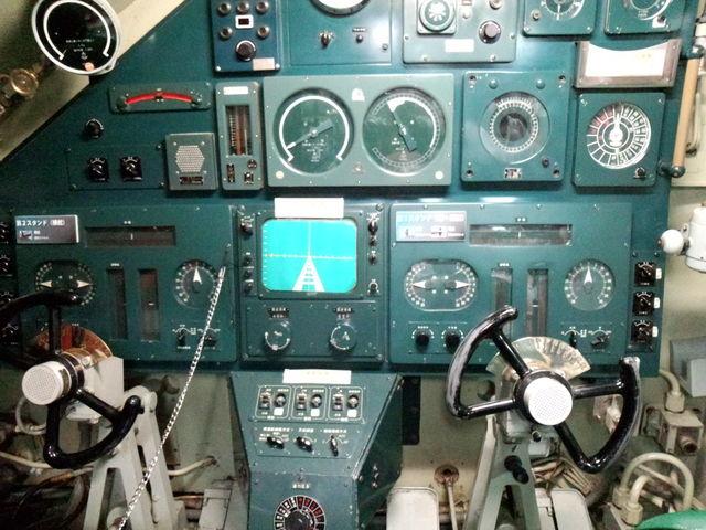 潜水艦の内部にも入れます。_海上自衛隊呉史料館(てつのくじら館)