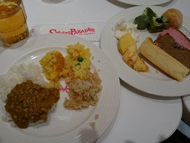 ケーキは少なめですが、ゆっくり食べ過ぎました。_スイーツパラダイス SWEETS PARADISE 仙台パルコ店