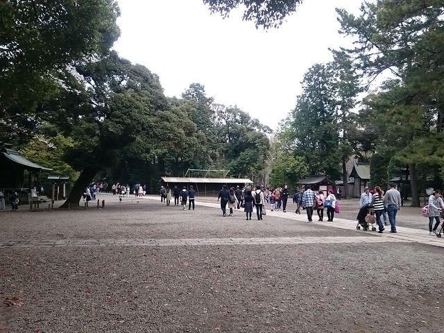 三の鳥居を越えた付近_武蔵一宮氷川神社