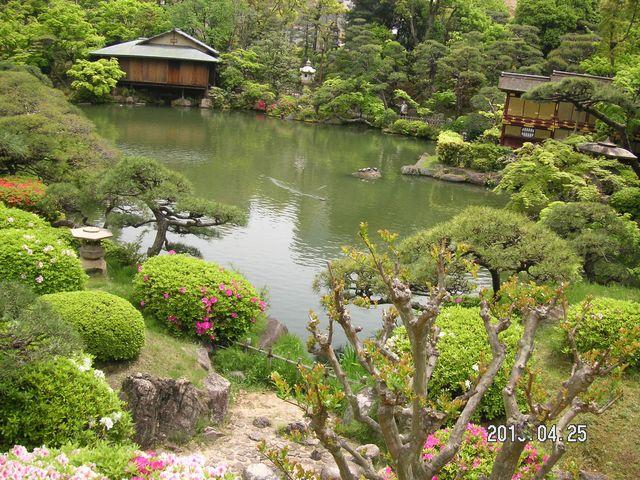 池が美しい_相楽園