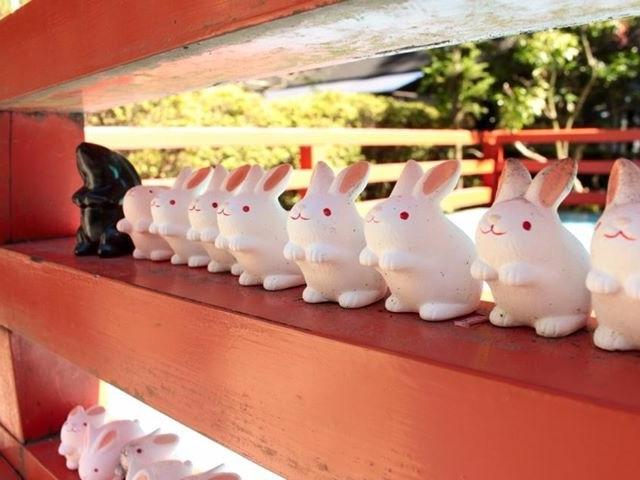 うさぎが並んでいます。_東天王岡崎神社