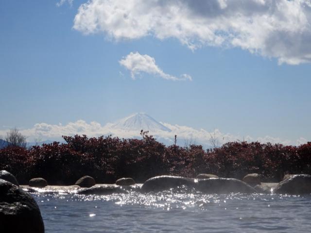 露天風呂から見えます_甲斐大泉温泉 パノラマの湯