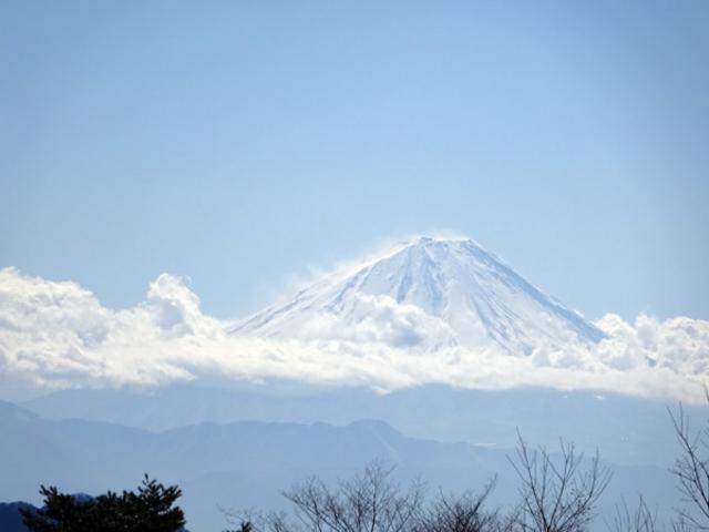 こんな富士山です_甲斐大泉温泉 パノラマの湯