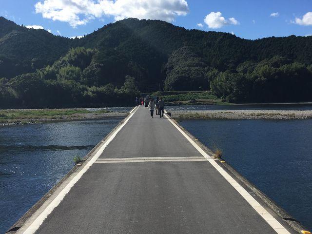 晴れた日_佐田の沈下橋