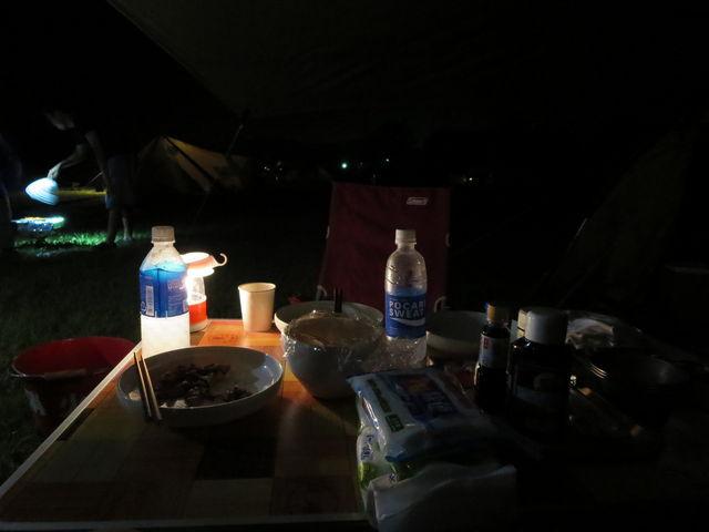 夜_本栖湖キャンプ場