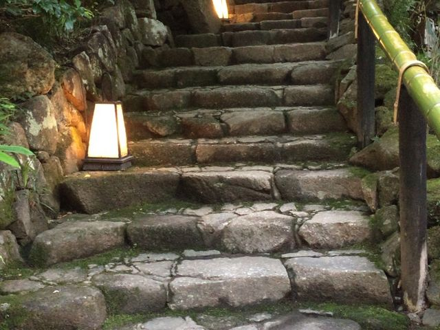 入口の階段_黒茶屋