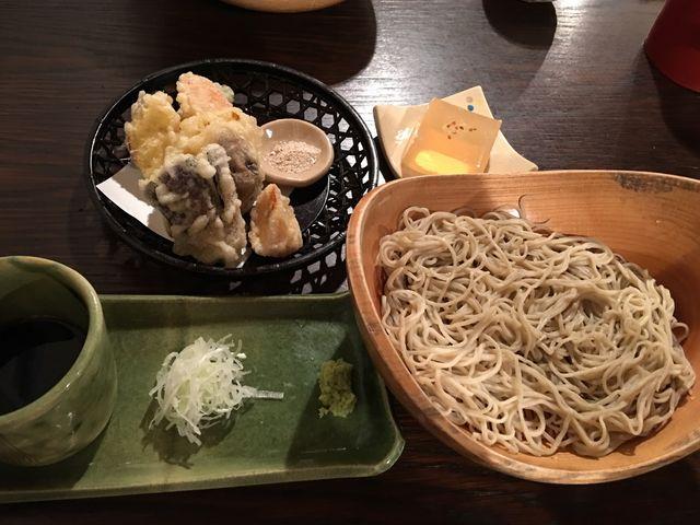 旬菜の天ぷらとお蕎麦。_そば処天庵