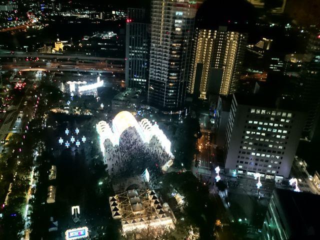 夜景_神戸市役所24階展望ロビー
