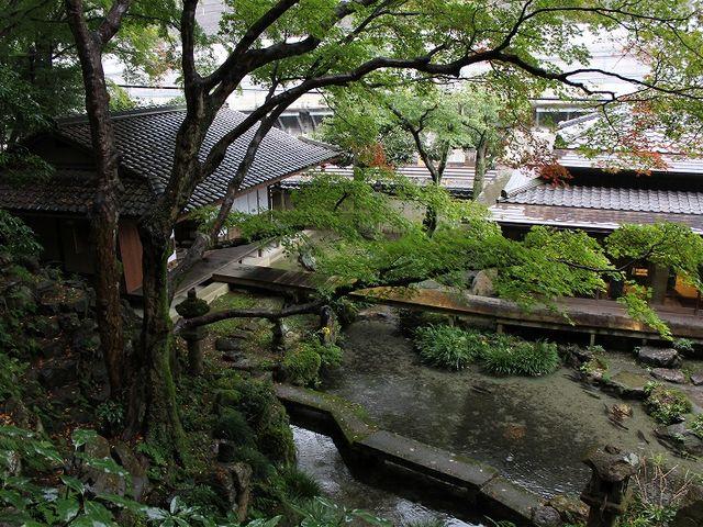 池を配した庭園。_月心寺