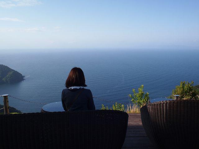 山頂カフェ、遮るものが無く素敵すぎる風景です!_三方五湖有料道路レインボーライン