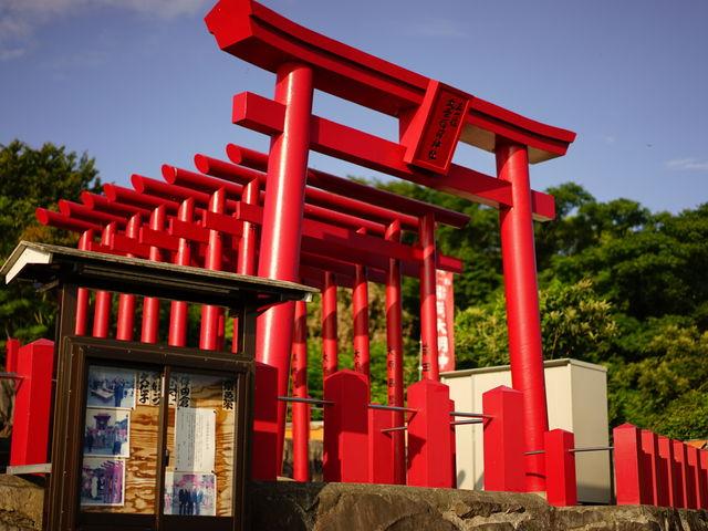 展望台の隣にある大榮稲荷神社、こちらも非常に美しかったです。_御輿来海岸