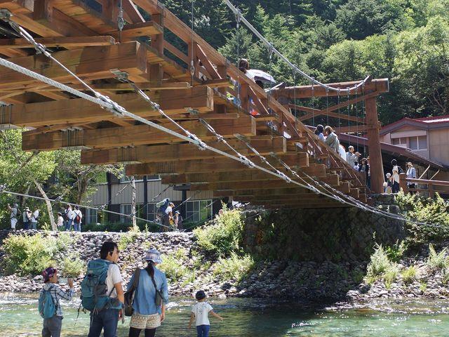 河童橋から見る梓川は昔 魚が沢山いたのですが、、、(45年前は)_河童橋