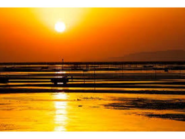 美しい夕日_御輿来海岸