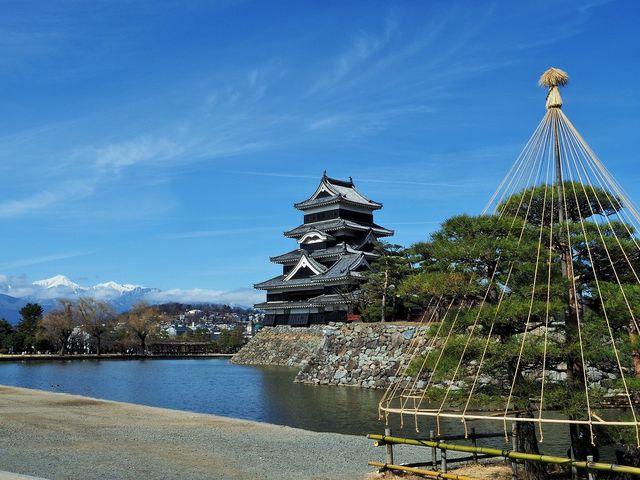 松本城の冬_松本城のお濠