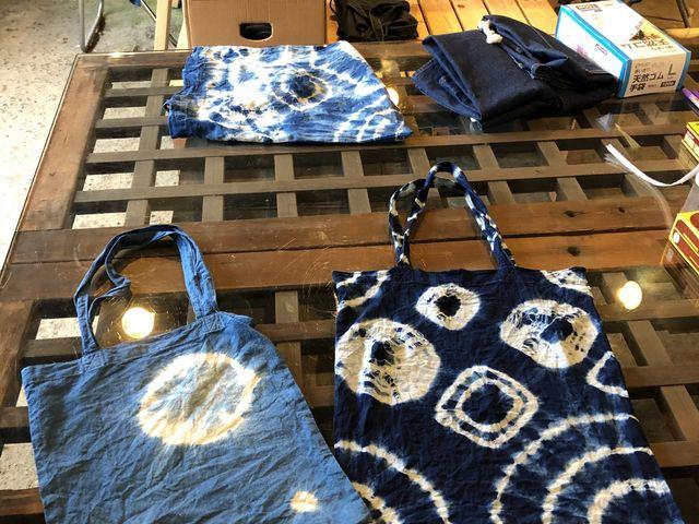 同じ藍でも、濃さでこんなり変わります!好みの色へ染められ満足です!_藍染め草木染体験工房 棉屋