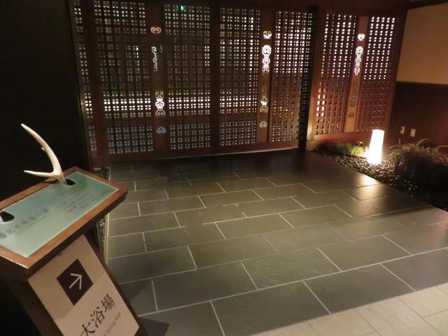 温泉への入り口(あばしり湖鶴雅さん)_網走湖温泉郷