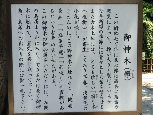 この説明書きに注目_新田神社