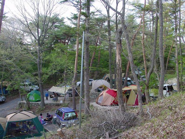 オートサイト_保古の湖キャンプ場 (国民宿舎恵那山荘)