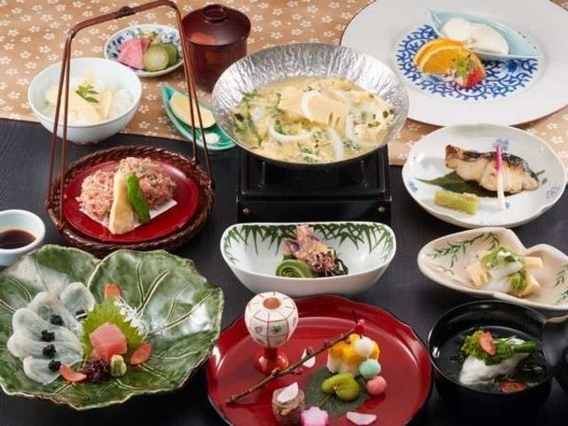 季節の会席筍(仕入れにより写真と異なる場合もございます。)_京湯元 ハトヤ瑞鳳閣/栄寿庵